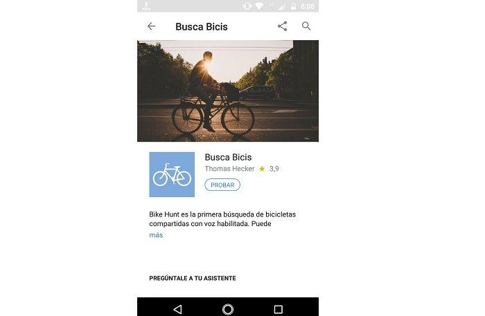 Busca Bicis en Google Asisstant