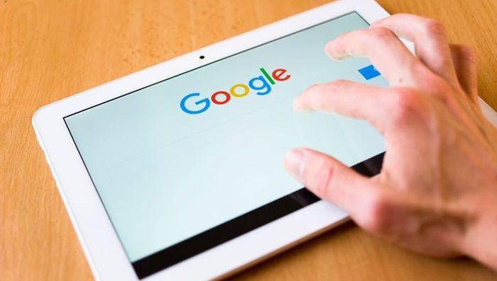 Buscando en Google en un tablet