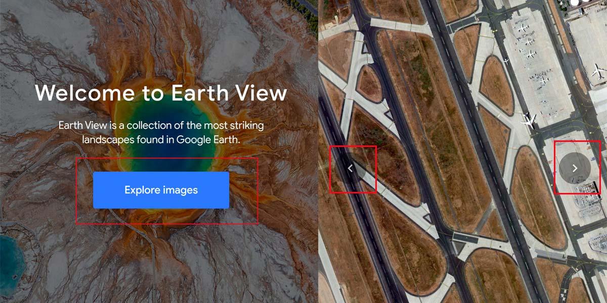 Acceder a las imágenes en Google Earth