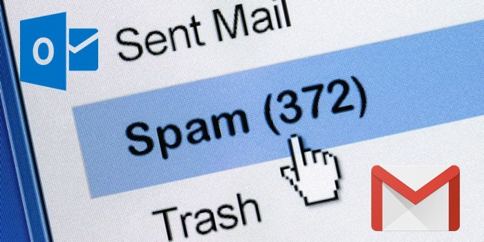 Cómo bloquear correos spam en Gmail y Outlook