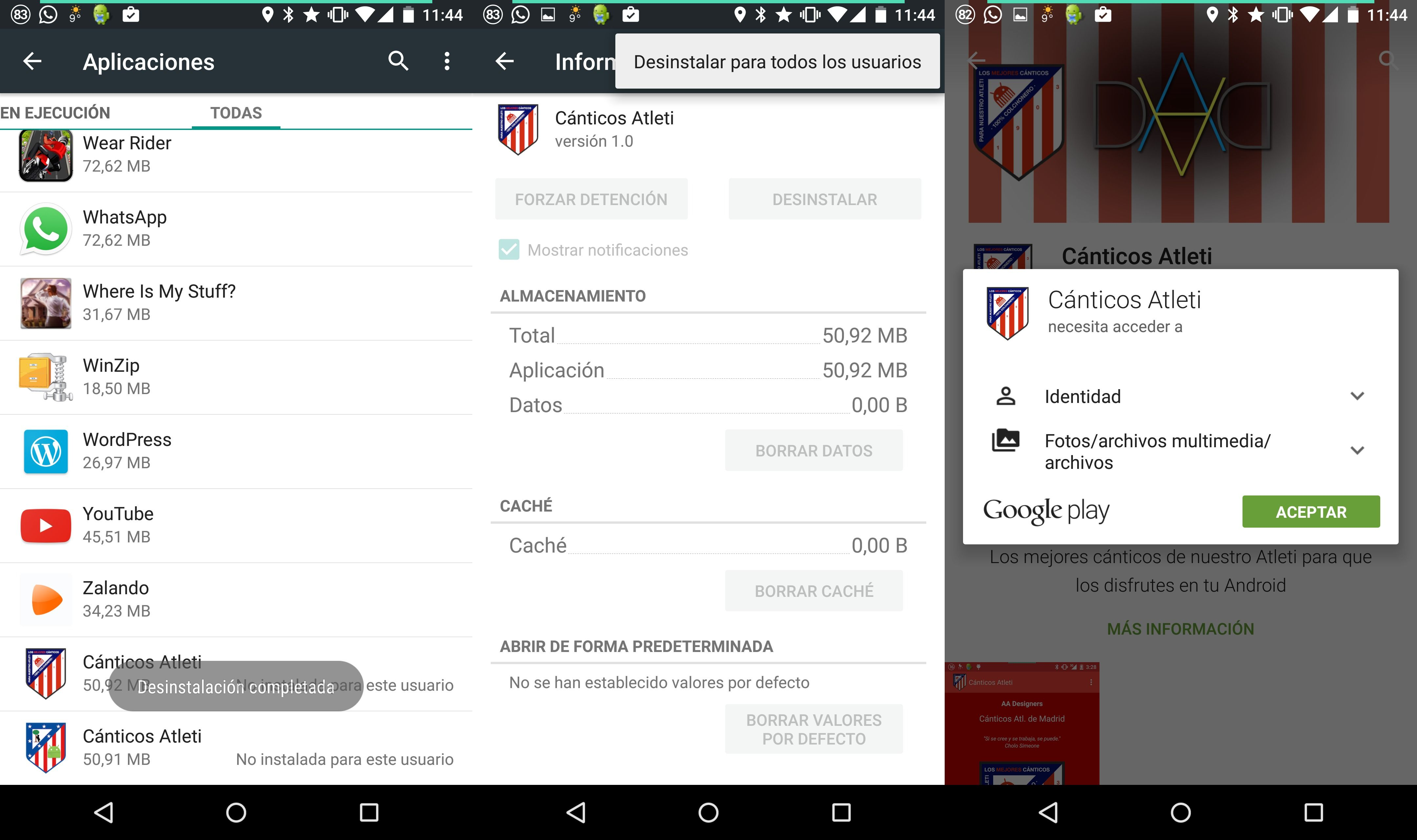 Cómo desinstalar una aplicación en Android para todos los usuarios
