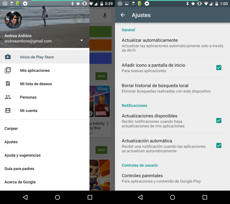 Cómo eliminar el historial de búsquedas de Google Play