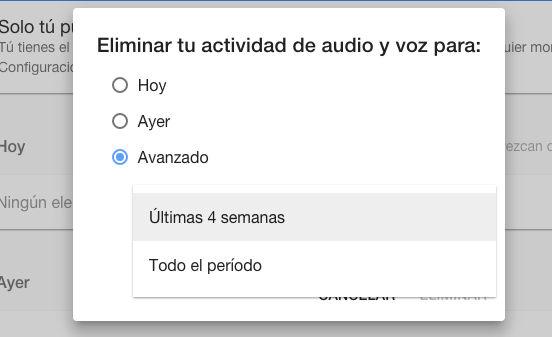 Cómo eliminar los comandos de voz de Google Now