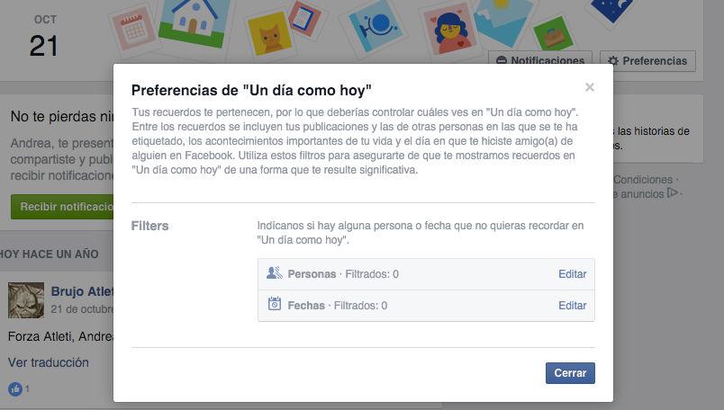 Cómo evitar que Facebook publique recuerdos malos en el muro