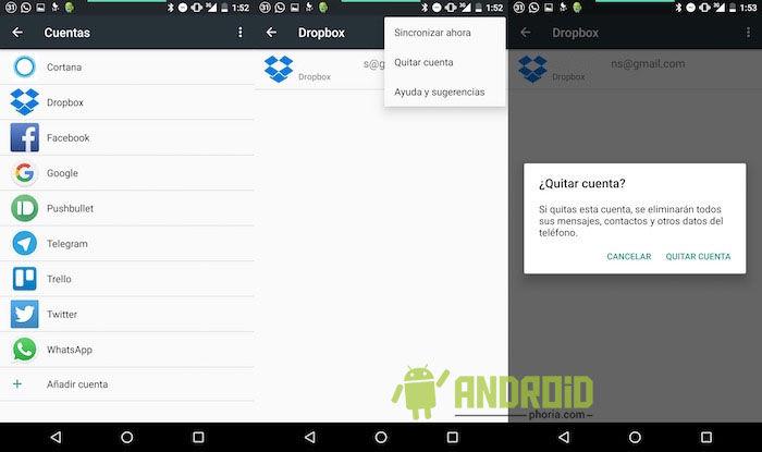 Cómo eliminar cuentas en Android 6.0 Marshmallow
