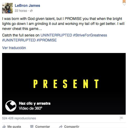 Cómo ver un vídeo de 360 grados en Facebook