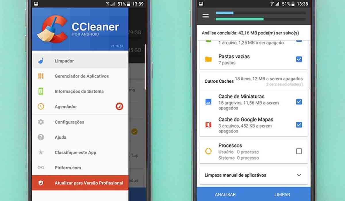 CCleaner libera espacio en Android