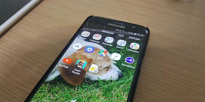 Cajon de aplicaciones Galaxy S7