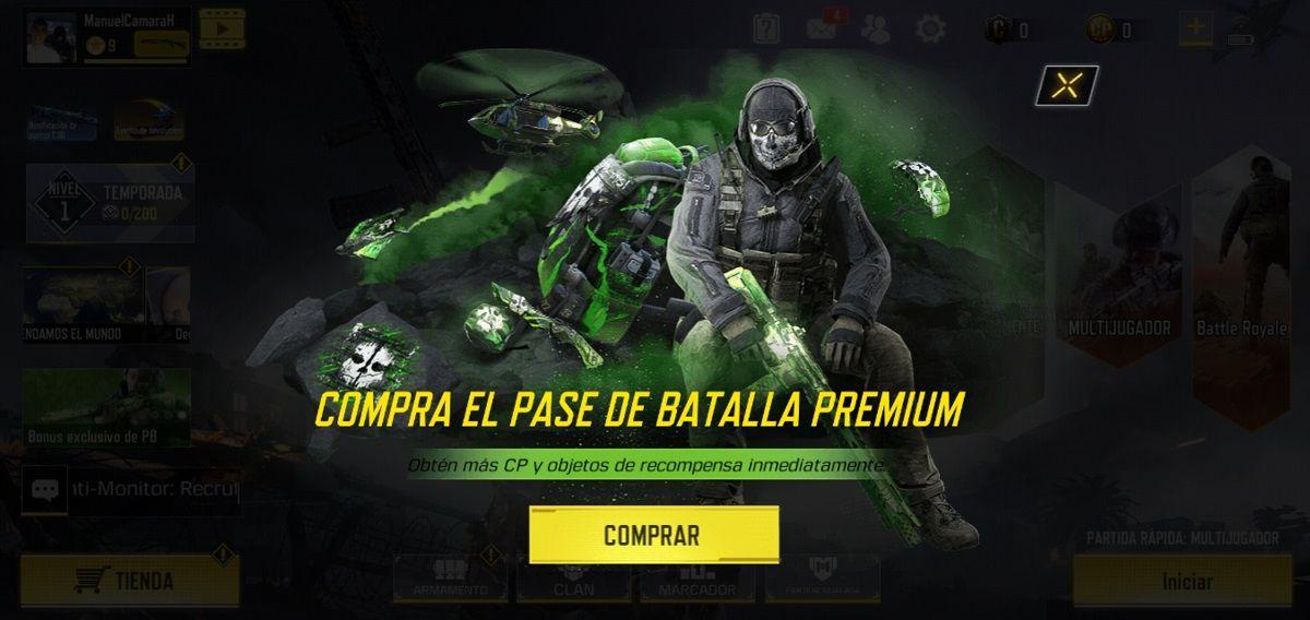 Call of Duty Mobile Pase de Batalla