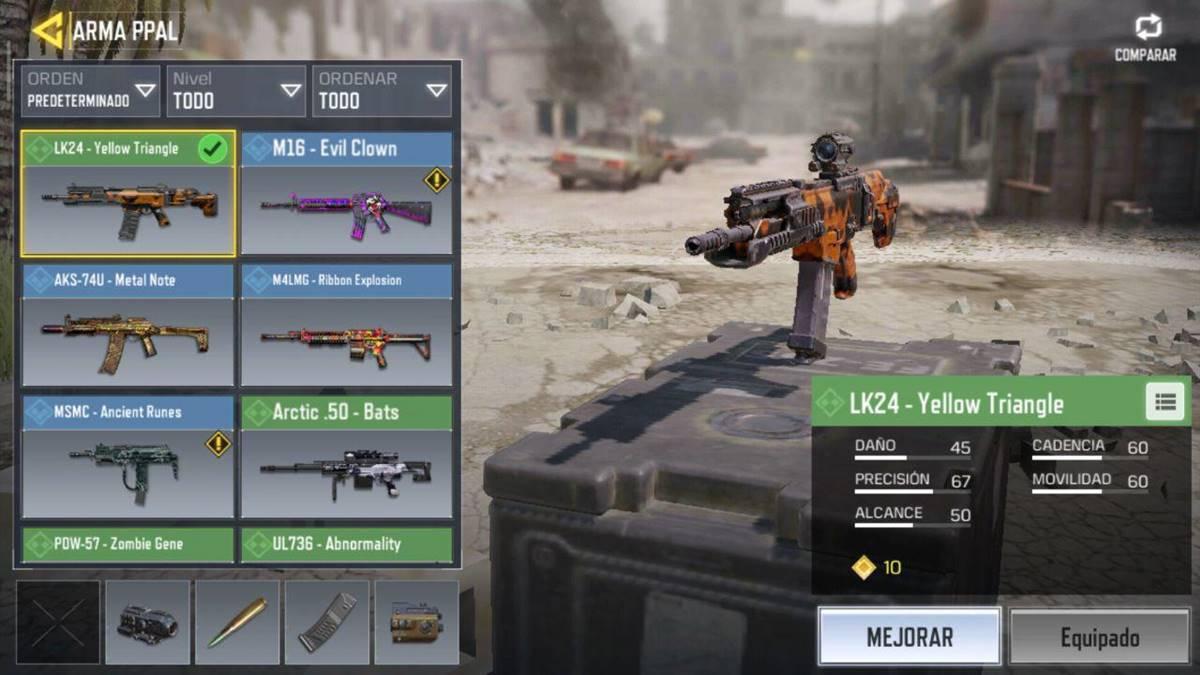 Call of Duty Mobile armas de asalto
