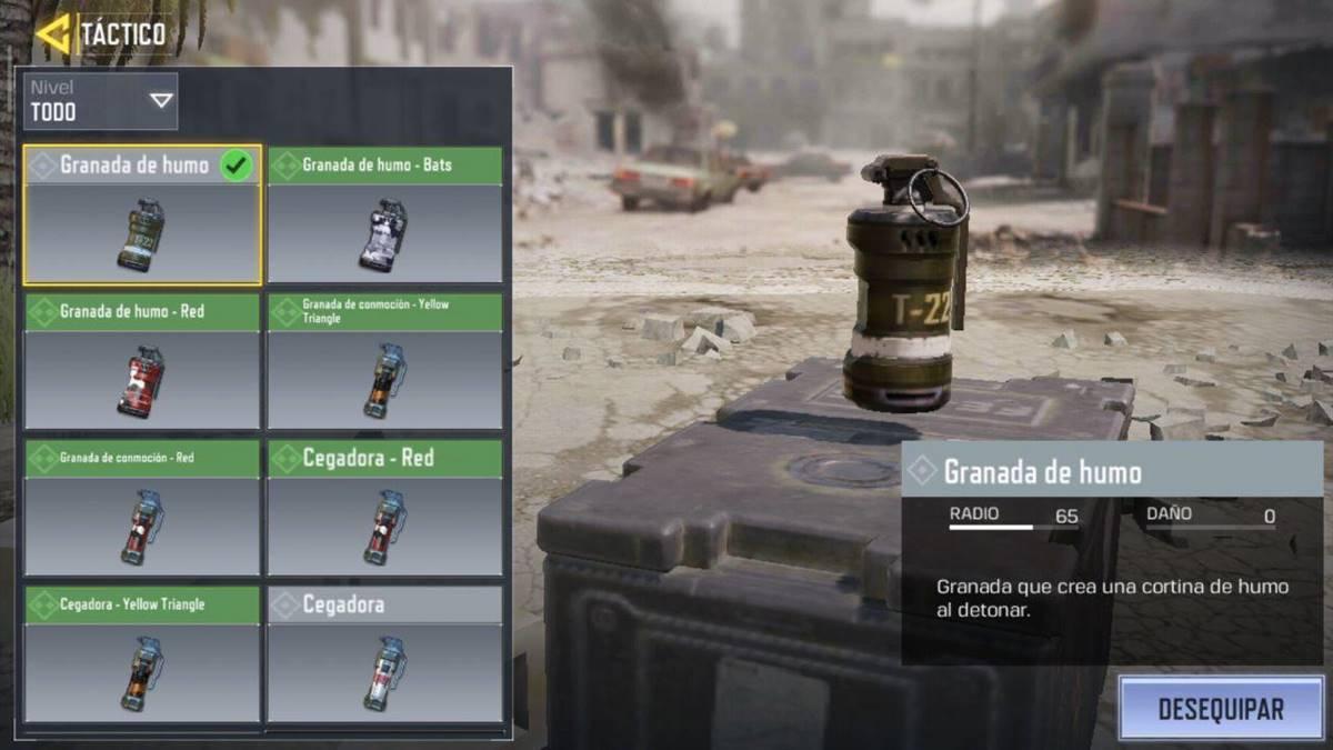 Call of Duty Mobile bombas de humo