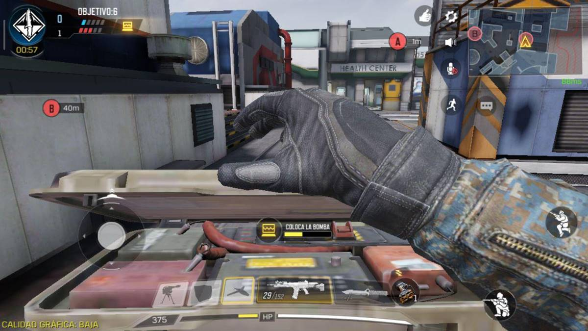 Call of Duty Mobile colocar bomba