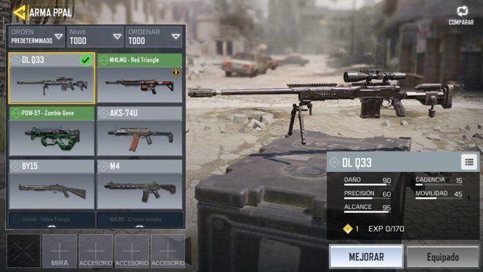 Call of Duty Mobile francotirador