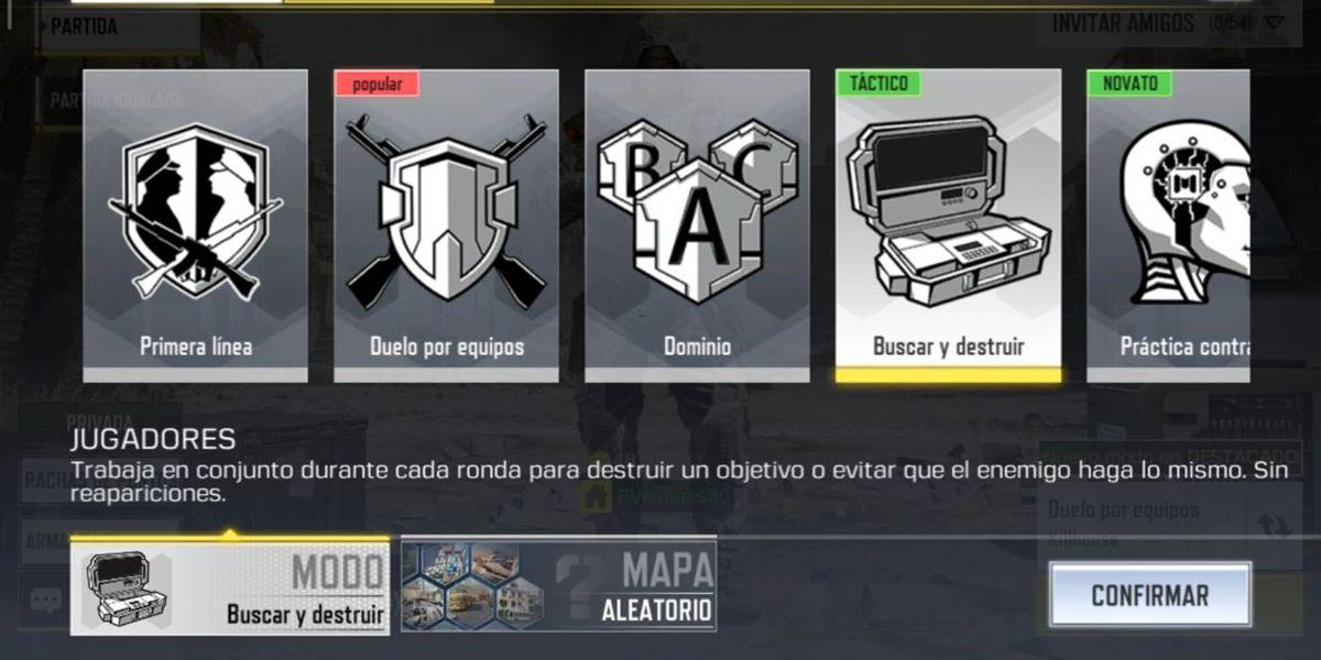 Call of Duty Mobile modo buscar y destruir