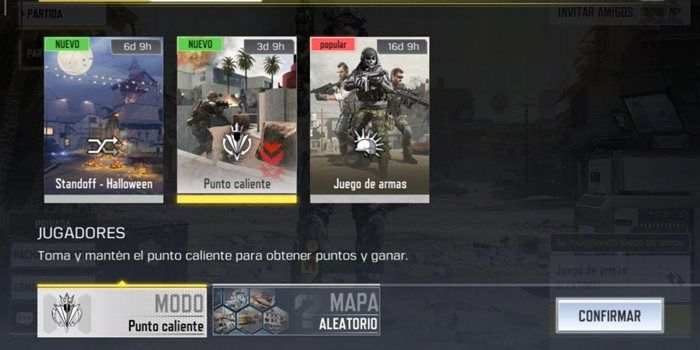 Call of Duty Mobile punto caliente equipo