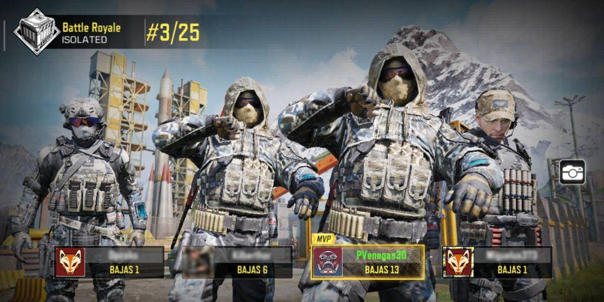 Call of Duty Mobile rachas grandes