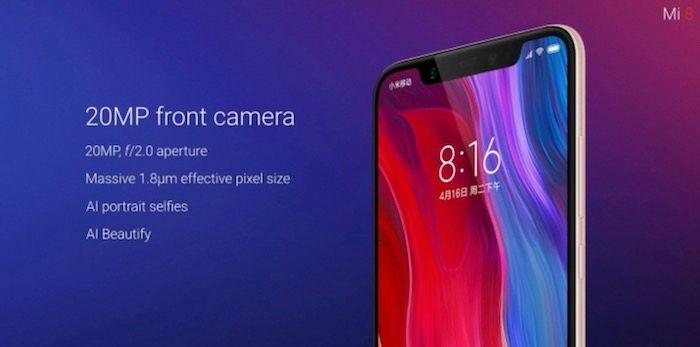 Camara frontal Xiaomi Mi 8