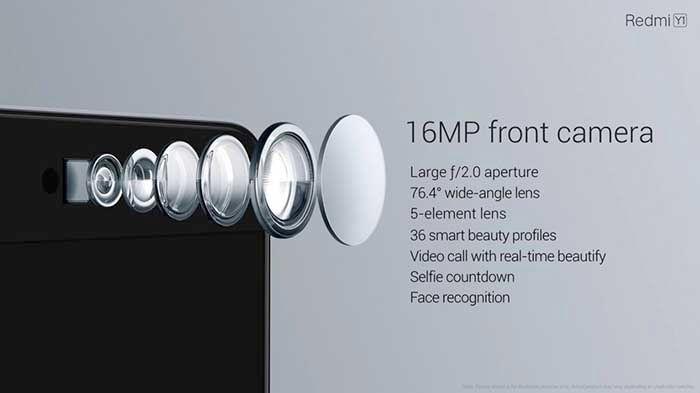 Camara frontal Xiaomi Y1