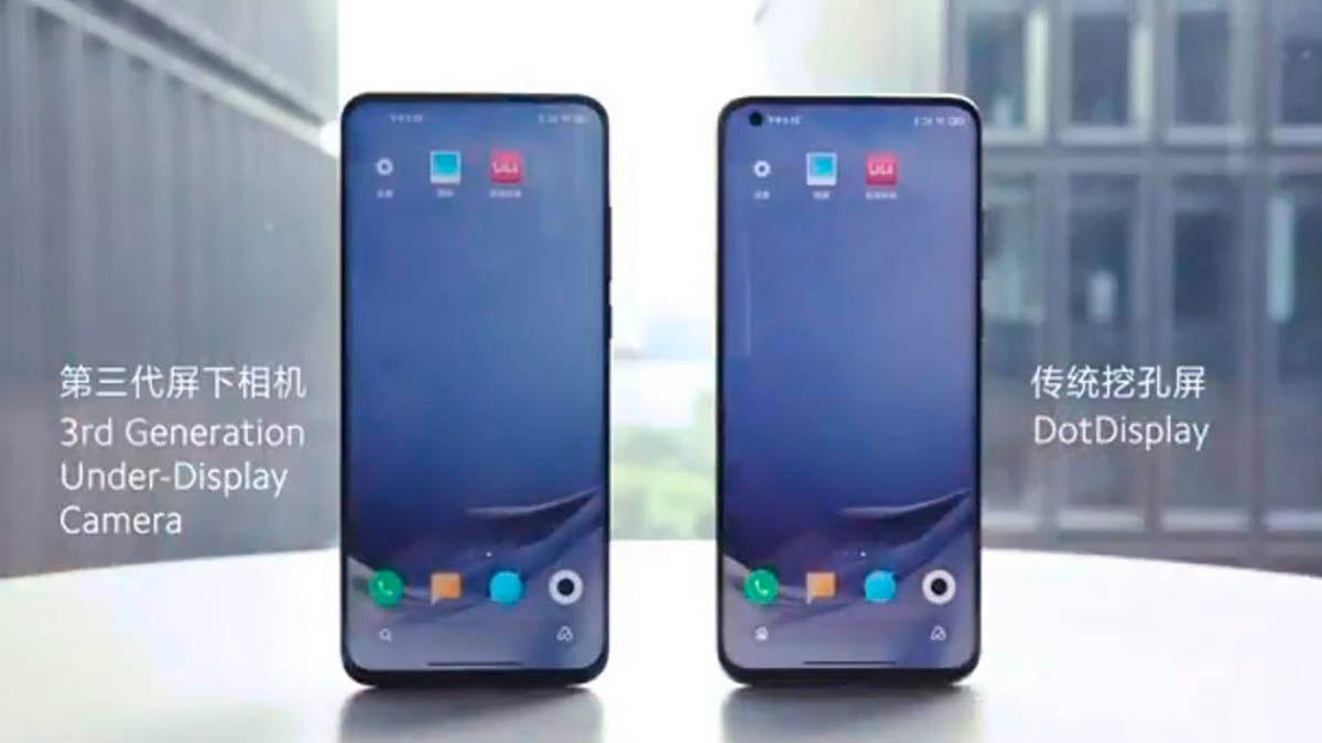 Camara frontal invisible Xiaomi