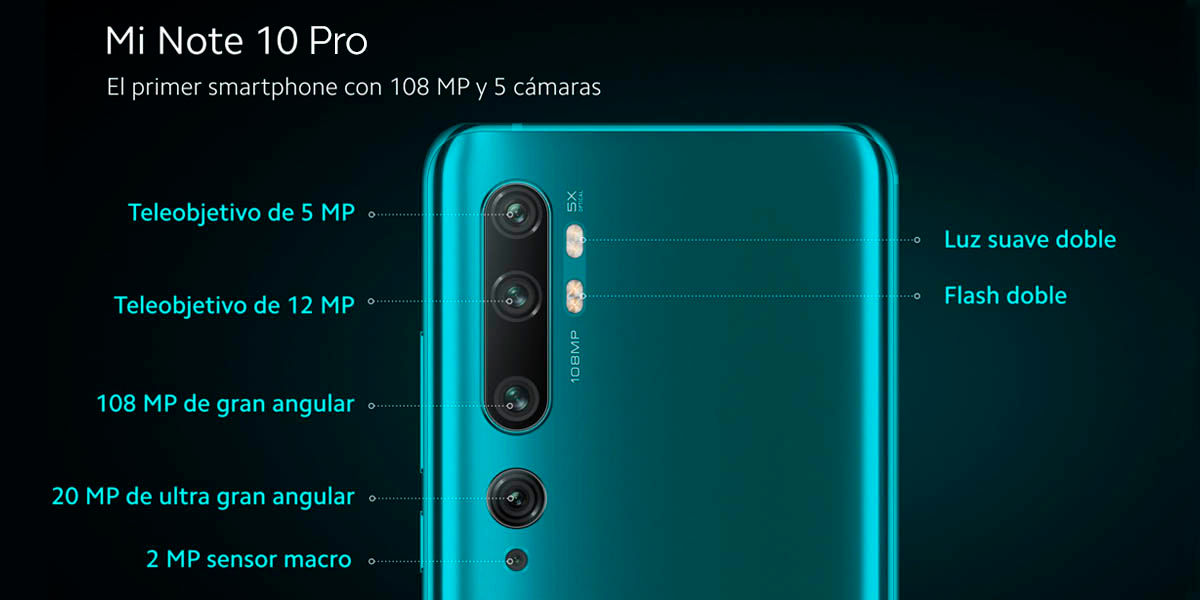 Camaras Mi Note 10 Pro