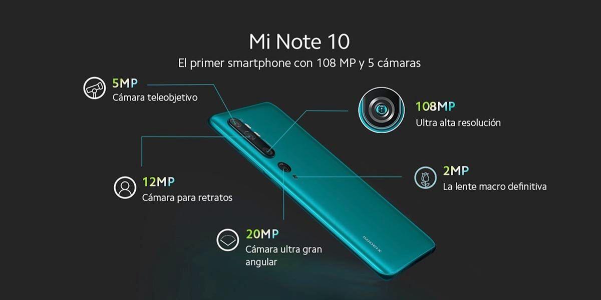 Cámaras del Mi Note 10 de Xiaomi