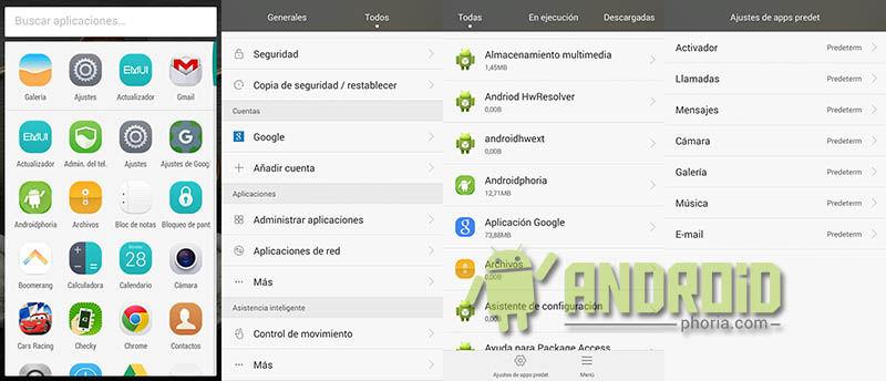 Cambiar aplicaciones por defecto en Huawei