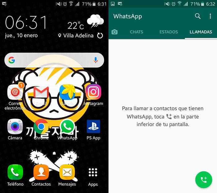 Cambiar color LED WhatsApp Paso 1