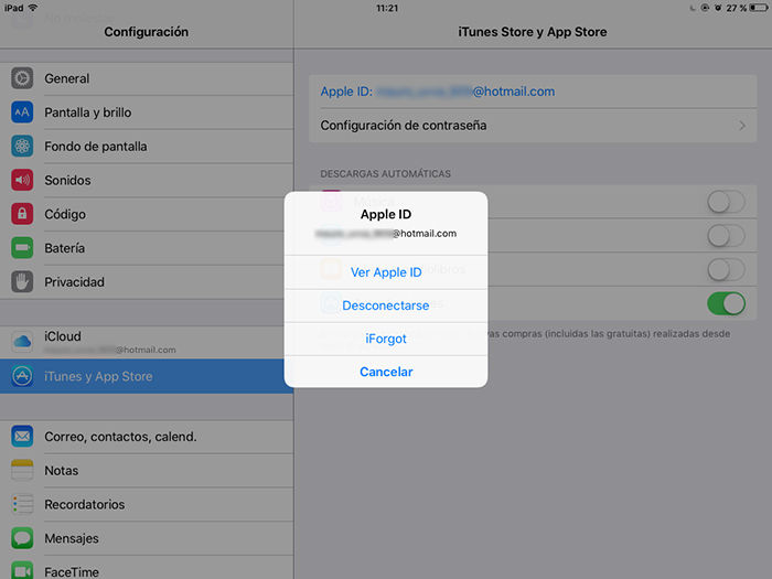 Cambiar contrasena Apple ID 4