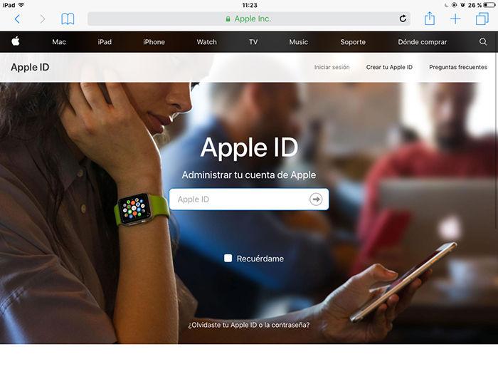 Cambiar contrasena Apple ID 7