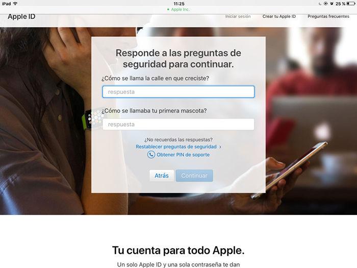 Cambiar contrasena Apple ID 9