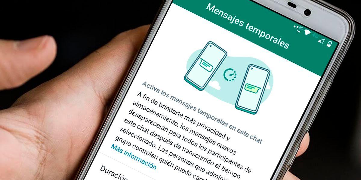 Cambiar duracion mensajes temporales WhatsApp