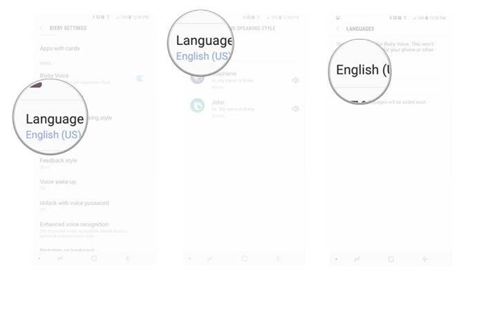 Cambiar el lenguaje de Bixby