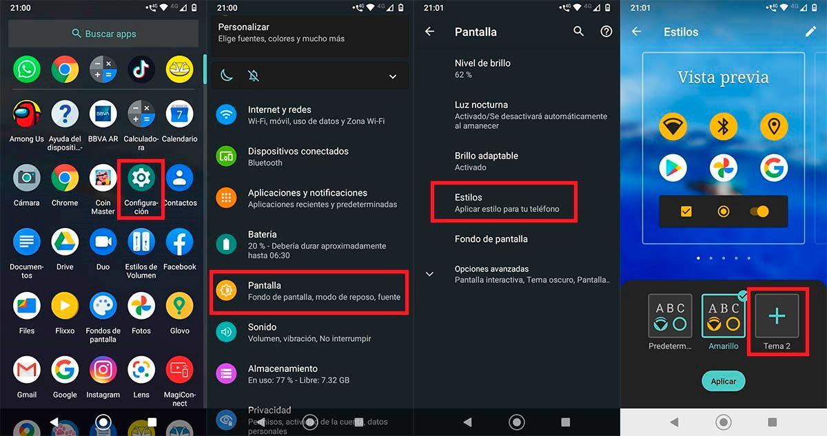 Cambiar estilo letra Motorola