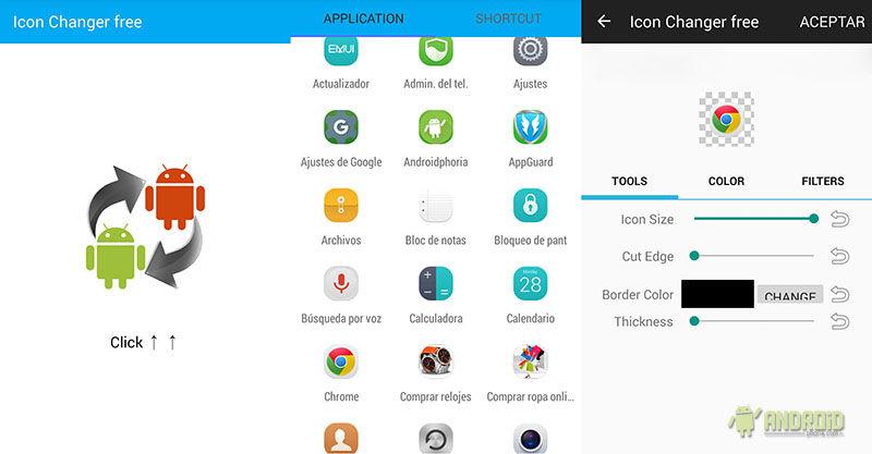 Cambiar iconos aplicaciones Android