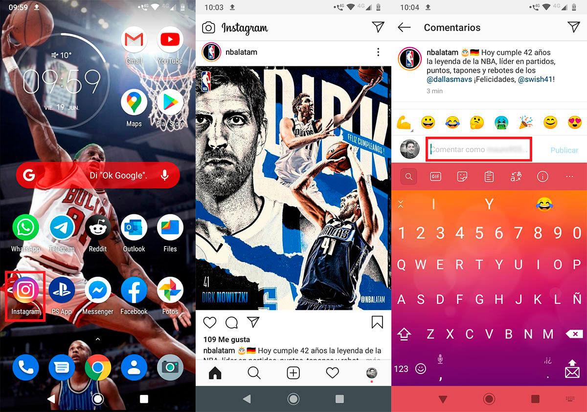 Cambiar letra en Instagram