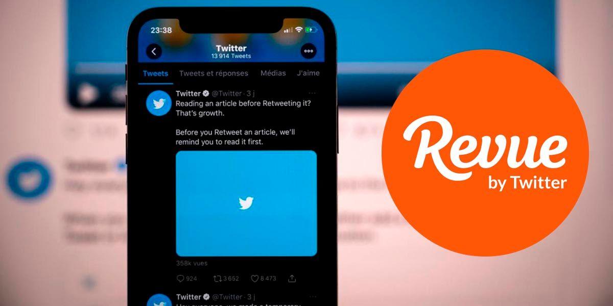 Cambiar mail que compartes con Revue en Twitter