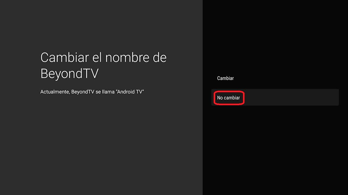 Cambiar nombre Android TV
