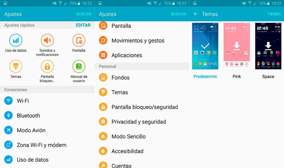 Cambiar tema Galaxy S6