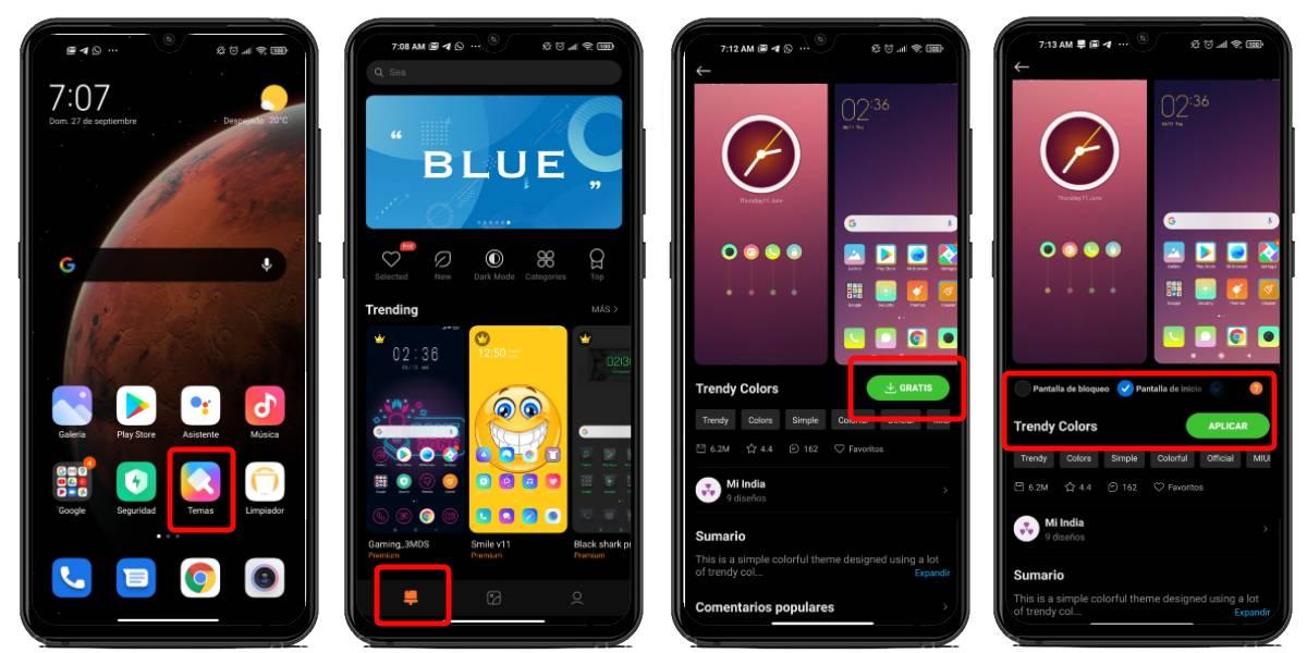 Cambiar temas Redmi Note 9
