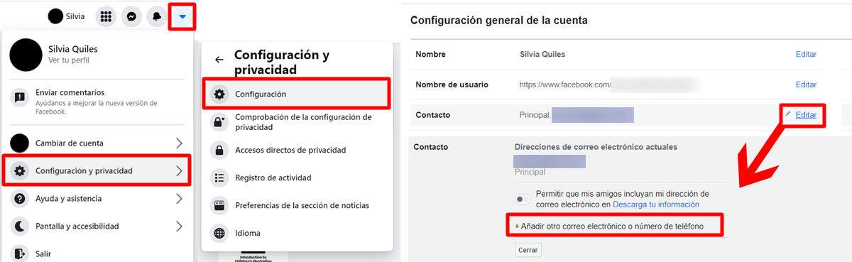 Cambiar tu correo de Facebook es muy sencillo desde PC