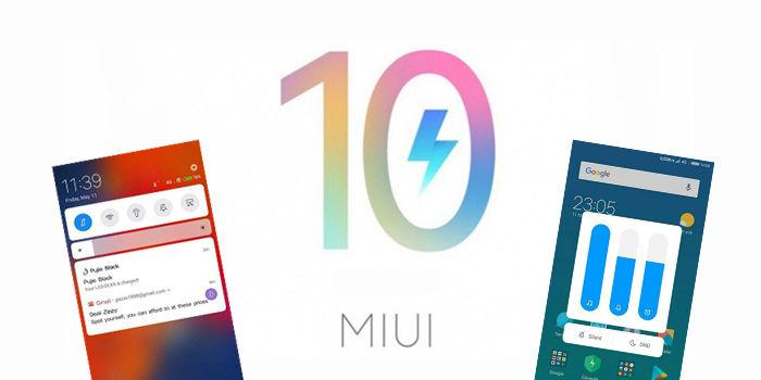 Cambios interfaz miui 10 diseño