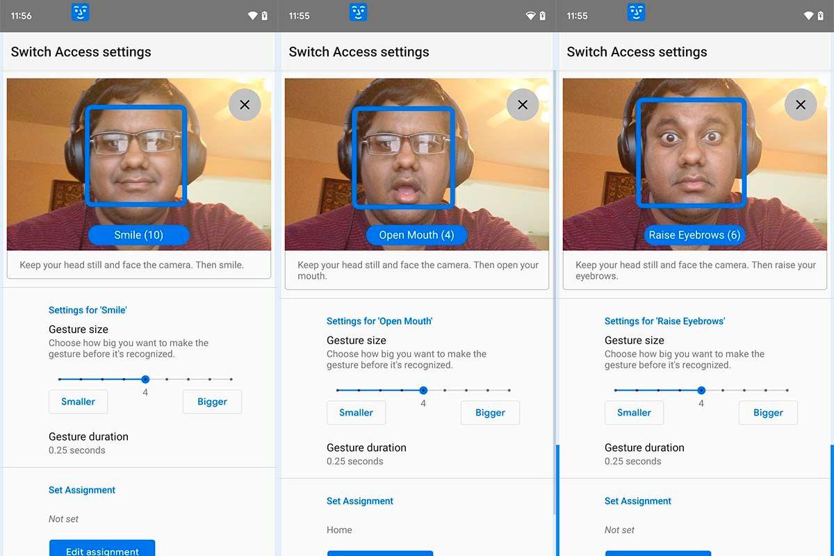 Camera Switches podrás usar Android con gestos cara