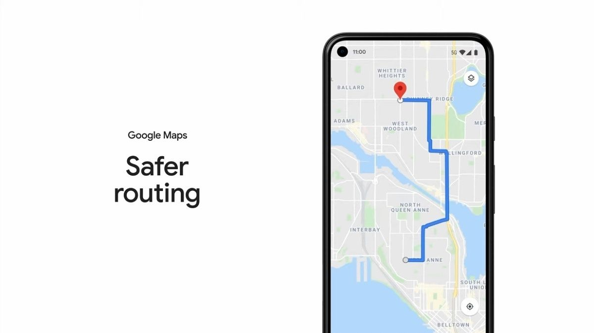 Caminos seguros Google Maps