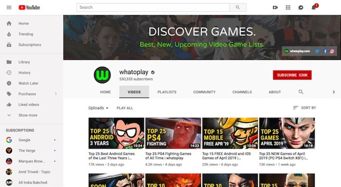 Canales de YouTube que recomiendan juegos para Android