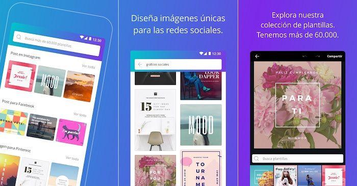 Canva app crear logos en Android