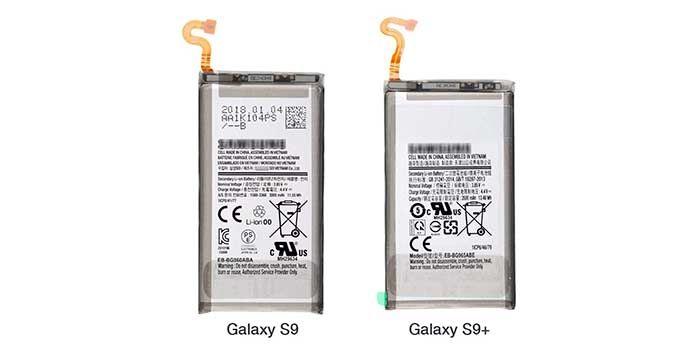 Capacidad bateria Galaxy S9