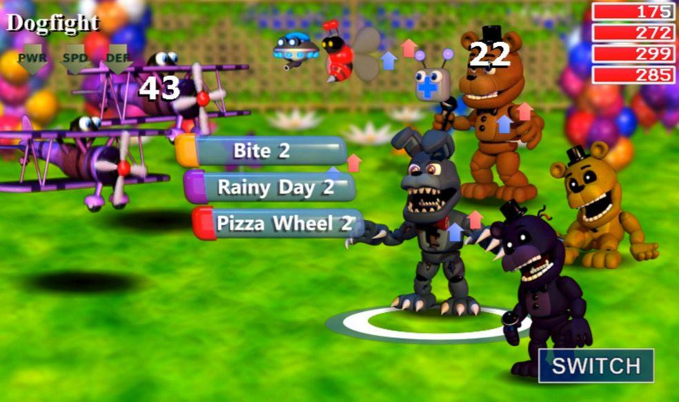 FNAF World gameplay