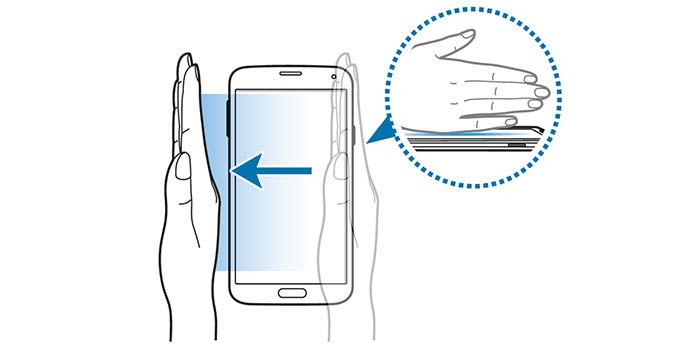 Captura pantalla gesto Galaxy S5