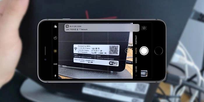 Capture o código QR do WiFi