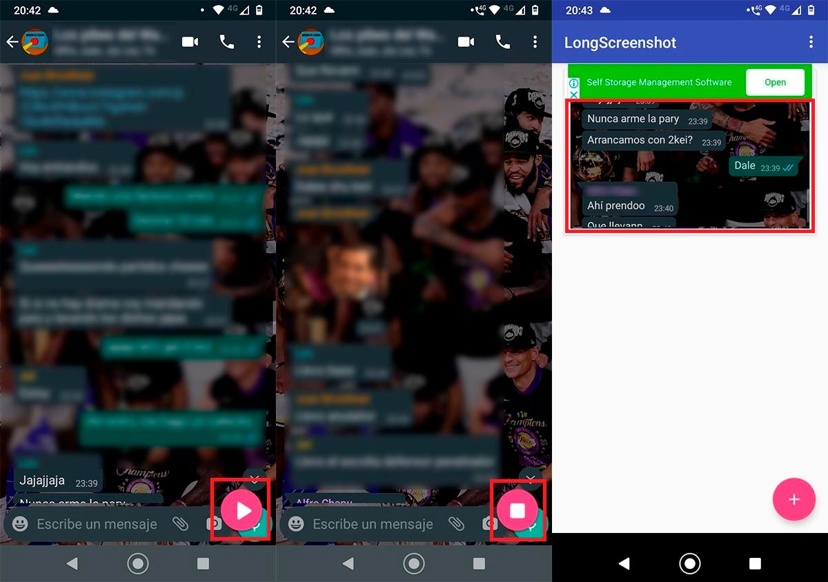 Capturar pantalla con LongScreenshot
